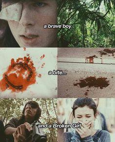 Yeah I'm that broken girl. We miss u Carl Grimes Walking Dead Season 8, The Walking Dead 2, Walking Dead Tv Series, Walking Dead Memes, Chandler Riggs, Carl E Enid, The Walken Dead, Twd Memes, Memes Humor