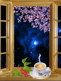 ¿Café sólo o con leche? Good Morning Gif, Good Night Image, Good Morning Good Night, Good Night Quotes, Coffee Images, Coffee Pictures, Gif Pictures, Cool Pictures, Gif Animé