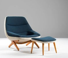 Illum Wikkelsø Lounge Chair with Ottoman