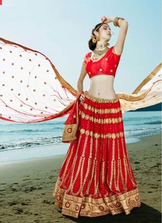 Exceptional Embroidered Net Cream and Maroon Designer Wedding Lehenga choli