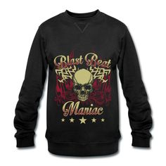 Blast Beat Maniac - Men's Sweater by Dickies Drummer T Shirts, Band Shirts, Hoodies, Sweatshirts, My Best Friend, Unique, Sweaters, How To Wear, Bags