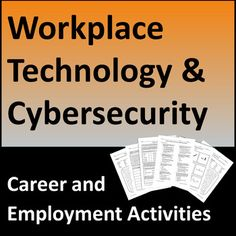 Workplace technology and cyber security job skills activities introduce students to key terms, best practices, and real-life situations related to safe electronic data and device management. Important resource for career readiness, CTE, vocational, transition-to-work, business, life skills, and computer science students.