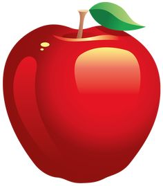 Large Painted Red Apple PNG Clipart