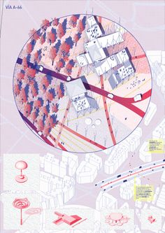 Space Popular's urban vision for the redevelopment of Highway A66 in Oviedo, Spain