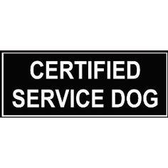 Cert. Service Dog Patch