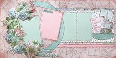 In March we released the collection Greenhouse collection which featured all those beautiful succulents that you can fussy cut and layer. As it's Friday and almost the start of our weekends (… Scrapbook Frames, Scrapbook Sketches, Scrapbook Page Layouts, Scrapbook Cards, Scrapbooking Ideas, Scissor Sisters, Free Frames, Shabby Chic Cards, Diy Greenhouse
