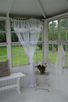 The place we're looking at has the enclosed back porch like this.