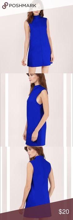 """Royal/Cobalt Blue Poplin Shift Dress Bust: 32""""/81.3cm Length: 34""""/86.4cm Sleeve Length: 6""""/15.2cm Measured in size Small Tobi Dresses Mini"""
