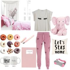 """""""Let's stay home"""" by hello-kitty-ro on Polyvore"""