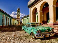 Vintage photos of cuba | Old Worn 1958 Classic Chevy, Trinidad, Cuba Photographic Print