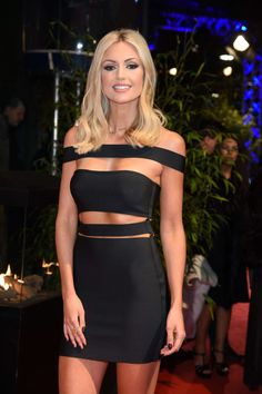 Awesome black dress on blonde beauty, Maria Domark. Great body and face! / Blonde woman blondes are beautiful Celebrity Wallpapers, Celebrity Photos, These Girls, Hot Girls, Lil Black Dress, Reno, Celebs, Celebrities, Mini Skirts