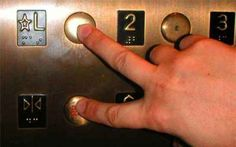 Hack the elevator by pressing your floor and the door close button at the same time.