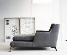 Chaise Lounge by Italian Vibieffe Grey Chaise Lounge, Grey Chair, Lounge Chairs, Contemporary Daybeds, Home Furniture, Furniture Design, Italian Furniture, Take A Seat, Interior Design Inspiration