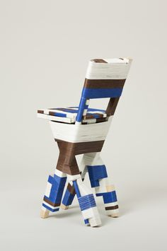 Thread Wrapping chair by Anton Alvarez
