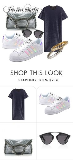 """Untitled #71"" by vikydado ❤ liked on Polyvore featuring Jil Sander, adidas Originals, STELLA McCARTNEY and Christian Dior"
