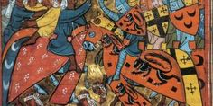 List of important medieval wars and significant battles in Middle Ages. Famous medieval battles, dates and importance for history. Medieval Manuscript, Medieval Art, Illuminated Manuscript, Battle Of Hattin, History Of Islam, Moslem, Crusader Knight, Medieval Paintings, Templer