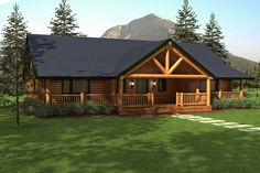 Hartford Log Home Plan by Daniel Boone Log Homes Style At Home, Construction Chalet, Future House, My House, Cottage House, Log Home Floor Plans, Rustic House Plans, Cabin House Plans, Log Home Living
