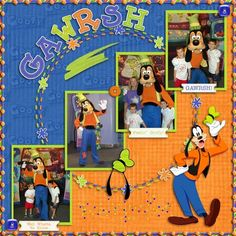 Goofy scrapbook-ideas! Perfect for our Disneyland pics! Lots with goofy