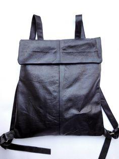 Leather backpack handmade by Klerovski Bags on Etsy