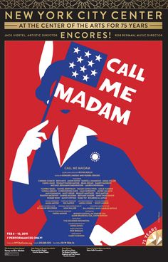 Official window card poster from the Encores 2019 production of Call Me Madam. Measures 14 x 22 inches. Printed on glossy cardstock and shipped flat in extra protective packaging to prevent damage to the poster. Would you like your poster framed? We...