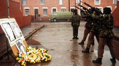 IRA members fire a volley of shots for three comrades killed in Gibraltar. the troubles in northern ireland were an ever present of my childhood Bbc History, History Page, Northern Ireland Troubles, Irish Independence, The Ira, From Here To Eternity, Forest Of Dean, Erin Go Bragh, Ireland