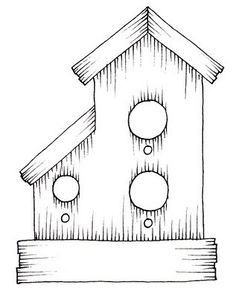 Free digital download - Beccy's Place: Birdhouse with Addon