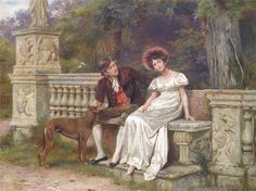 Artwork by George Goodwin Kilburne, Doubts and Fears, Made of Oil on canvas