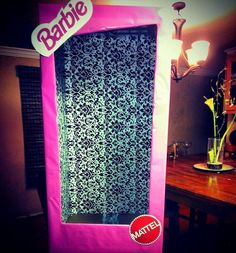 Photo opp at a Barbie party!  See more party ideas at CatchMyParty.com!  #partyideas #barbie