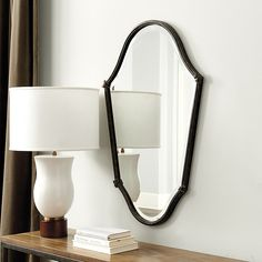 Who sells mirror decor? Find stylish mirror decor, wall art mirrors, and more at Ballard Designs today! Living Room On A Budget, Living Room Remodel, Home Living Room, Living Room Decor, Dining Room, Black Powder Room, Mirror Wall Art, Mirrors, Woman Bedroom