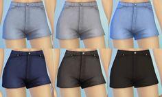 My Sims 4 Blog: Maxis Match High-Waist Denim Shorts for Teen - Elder Females by Pickypikachu