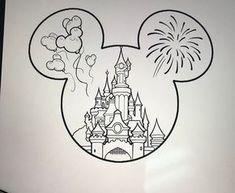 Disney Drawings Sketches, Cute Disney Drawings, Doodle Drawings, Easy Drawings, Drawing Sketches, Tattoo Drawings, Pencil Drawings, Tattoo Sketches, Simple Cute Drawings
