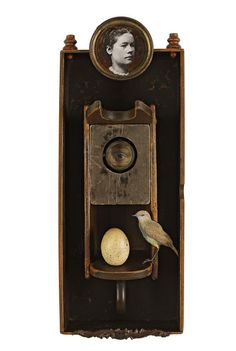 Mixed Media assemblage and collage art by Chicago artist Kass Copeland. Handmade boxes created from discarded, recycled furniture inspired by Joseph Cornell. Collages, Found Object Art, Found Art, Mixed Media Collage, Collage Art, Chicago Artists, Assemblage Art, Box Art, Oeuvre D'art