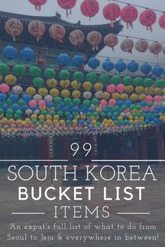 To Do in Korea: 99 Unique Adventures The local's perspective on what to do in South Korea, from wandering around Seoul in traditional clothing to walking through lava tubes and lavender fields on each coast. South Korea Travel, Asia Travel, Travel Tips, Travel Destinations, Travel Ideas, Japan Travel, Travel Plan, Travel Stuff, Travel Hacks