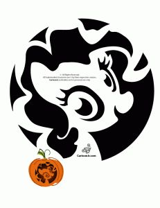 Sweet My Little Pony Pumpkin Carving Pattern or freezer paper stencil