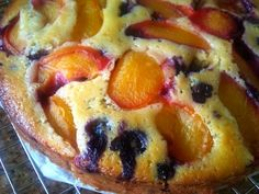 golden plum blueberry snack cake