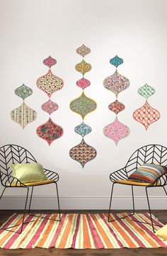 Add a carefree, bohemian element to any space with this collection of bright…