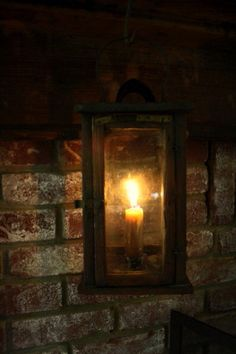 Is there anything more magnificent than stone and a lantern glow? My love for traditional/colonial/primitive meets a crossroad once again....