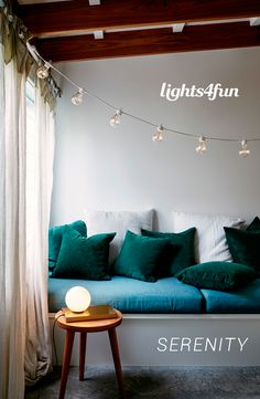 By far the most on-trend festoon lights in our range, these elegant white cable beauties look just like real glass bulbs, give an ambient warm white glow