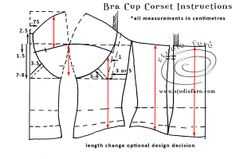 Let us know if you are interested in making Corset Patterns.Discover thousands of images about corset_bra_blueprint.patterncutting for lingerie beachwear and leisurewear - bla Motif Corset, Corset Sewing Pattern, Bodice Pattern, Bra Pattern, Skirt Patterns Sewing, Clothing Patterns, Pattern Drafting Tutorials, Diy Corset, Sleeve Pattern