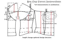 Corse _ construcción Copa - http://www.studiofaro.com/introductory/cbpd-corset-block-and-pattern-development