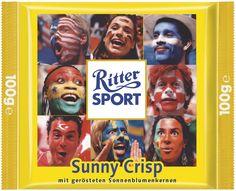 RITTER SPORT Sunny Crisp Schokolade – eine Fan-Sonderedition zur Fußball Weltmeisterschaft 2006.