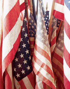 antique flags - i love America!