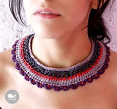 lovely crochet collar by Caracol