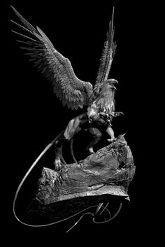 My quick sculpt Griffin. Griffin Tattoo, Griffin Logo, Fantasy Creatures, Mythical Creatures, Greif Tattoo, Griffin Mythical, Creepy Old Man, Snow Elf, Rooster Art