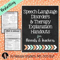 This set of 20 handouts are perfect to help spread awareness of the role and importance of speech-language therapy in the school setting! They are designed to explain the overall role of speech-language therapy, what different communication disorders are and how they can impact the school setting, what standardized testing is for