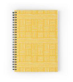 Retro Grace - Stripes Spiral Notebook by Ashley Behnke (Mustard)