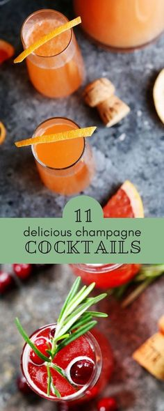 The best champagne cocktail recipes! They re perfect for New Year s Eve and Christmas. The best champagne cocktail recipes! They re perfect for New Year s Eve and Christmas. New Year's Eve Cocktails, Prosecco Cocktails, Christmas Cocktails, Easy Cocktails, Christmas Brunch, Christmas Recipes, Cocktail Desserts, Cocktail Drinks, Christmas Ideas