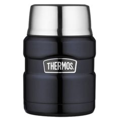 Thermos Stainless King™ Vacuum Insulated Food Jar - 16 oz. - Stainless Steel/Midnight Blue