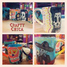 Diary of a Crafty Chica™: Dia de los Muertos Ceramics