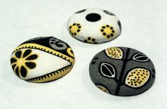 Magnets, Fabric Magnets, Button Magnets, Gray/ Yellow/ White Magnets, Strong Refrigerator Magnets. $4.99, via Etsy.